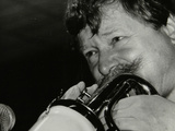 Trumpeter Janusz Carmello Performing at the Fairway, Welwyn Garden City, Hertfordshire, 1991 Photographic Print by Denis Williams