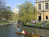 Punting, Cambridge, Cambridgeshire Photographic Print by Peter Thompson