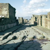 A Street in the Roman Town of Pompeii, Italy Reproduction photographique par CM Dixon