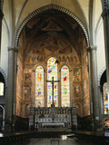 Interior of the Church of Santa Maria Novella, Florence, Italy Photographic Print by Peter Thompson