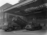 Unloading and Loading Lorries, Spillers Animal Foods, Gainsborough, Lincolnshire, 1961 Photographic Print by Michael Walters