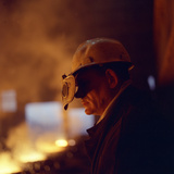 Steelworker, Newton Chambers, Chapeltown, Sheffield, South Yorkshire, 1971 Photographic Print by Michael Walters