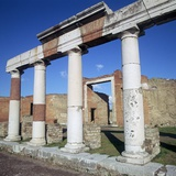 Columns of the Colonnade around the Forum in Pompeii, 1st Century Photographic Print by CM Dixon
