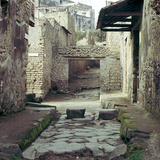 A Street and Houses, Pompeii, Italy Photographic Print by CM Dixon