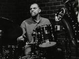 Drummer Derek Gale Playing at the Fairway, Welwyn Garden City, Hertfordshire, 31 October 1999 Photographic Print by Denis Williams