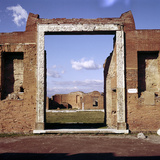 Doorway of the Building of Eumachia in the Forum, Pompeii, Italy Photographic Print by CM Dixon