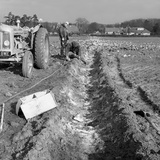 Contractors Setting Explosives in a Trench in Firbeck, Near Rotherham, 1962 Photographic Print by Michael Walters