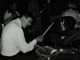 Drummer Jack Parnell Playing at the Middlesex and Herts Country Club, Harrow Weald, London, 1981 Photographic Print by Denis Williams