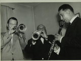 Humphrey Lyttelton, Sidney Bechet and Unknown Clarinetist, Colston Hall, Bristol, 1956 Photographic Print by Denis Williams