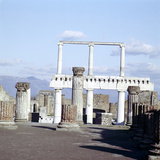 Colomns of the Colonnade Round the Forum, Pompeii, Italy Photographic Print by CM Dixon