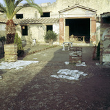 House of the Stags, Herculaneum, Italy; Garden of the Roman Villa Photographic Print by CM Dixon