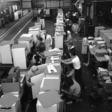 Fridge Assembly Line at the General Electric Company, Swinton, South Yorkshire, 1964 Photographic Print by Michael Walters