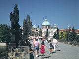 The Charles Bridge, Prague, Czech Republic Photographic Print by Peter Thompson
