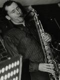 Steve Kaldestad Playing Tenor Saxophone at the Fairway, Welwyn Garden City, Hertfordshire, 2003 Photographic Print by Denis Williams