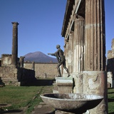 Bronze Statue at Temple of Apollo in Pompeii, 1st Century Photographic Print by CM Dixon