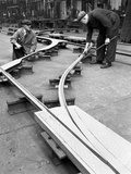 Assembling Trackwork in an Ici Factory, Sheffield, South Yorkshire, 1963 Photographic Print by Michael Walters