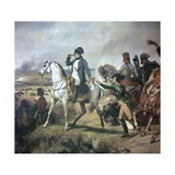 Napoleon at the Battle of Wagram, 19th Century Giclee Print by Horace Vernet