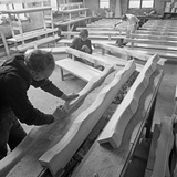Carpenters Working on Church Pews at a Small Carpentry Workshop, South Yorkshire, 1969 Photographic Print by Michael Walters