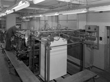 Meilhe Two Colour Printing Machine in Operation at a Printers, Mexborough, South Yorkshire, 1959 Photographic Print by Michael Walters