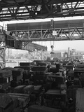 Eectromagnet Above Steel Ingots, Park Gate Iron and Steel Co, Rotherham, South Yorkshire, 1964 Photographic Print by Michael Walters
