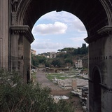 The Roman Forum and Arch of Septimus Severus, 3rd Century Photographic Print by CM Dixon