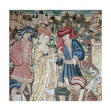 Detail from the Devonshire Hunting Tapestries, 15th Century Giclee Print by CM Dixon