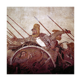 Roman Mosaic of Darius II of Persia at the Battle of Issus, Pompeii, Italy, (1st Century Ad) Giclee Print by CM Dixon
