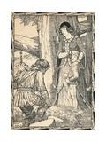 Margaret and the Robber, 1902 Reproduction procédé giclée par Patten Wilson