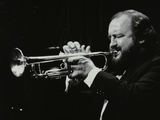 Trumpeter Keith Smith Playing at Stevenage, Hertfordshire, 1984 Photographic Print by Denis Williams