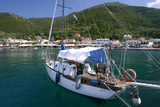 Yacht, Sami, Kefalonia, Greece Photographic Print by Peter Thompson