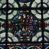Stained Glass Depiction of the Murder of Thomas a Becket, 12th Century Photographic Print by CM Dixon