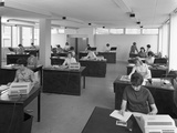 Administration Office at Huntsman House, Leeds, West Yorkshire, 1968 Photographic Print by Michael Walters