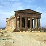 The Temple of Concord on Sicily, 5th Century Reproduction photographique par CM Dixon