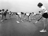 Girls Hockey Match, Airedale School, Castleford, West Yorkshire, 1962 Photographic Print by Michael Walters