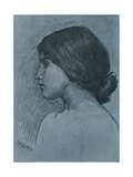 Study of a Head, C1899 Giclee Print by John William Waterhouse