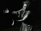 Marion Montgomery Singing at the Forum Theatre, Hatfield, Hertfordshire, 17 March 1979 Photographic Print by Denis Williams