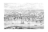 London from Temple Bar to Charing Cross, 1543 Giclee Print by Anthonis van den Wyngaerde