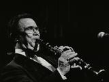 Johnny Mince Playing His Clarinet, Stevenage, Hertfordshire, 1984 Papier Photo par Denis Williams