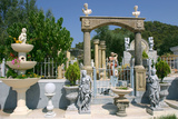 Ornamental Statues, Kefalonia, Greece Photographic Print by Peter Thompson