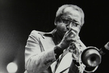 Joe Newman Playing His Trumpet, Beaulieu, Hampshire, July 1977 Photographic Print by Denis Williams