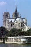 Exterior of Notre Dame, Paris, France, 14th Century Photographic Print by CM Dixon