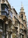 Balconies, St Pauls Street, Valletta, Malta Photographic Print by Peter Thompson