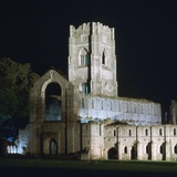 Fountains Abbey, Illuminated, 12th Century Photographic Print by CM Dixon