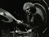 Drummer Ginger Baker Performing at the Forum Theatre, Hatfield, Hertfordshire, 1980 Reproduction photographique par Denis Williams