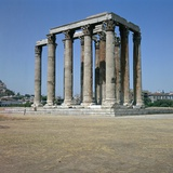 Temple of Olympian Zeus in Athens, 2nd Century Bc Photographic Print by CM Dixon
