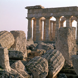 The Ruins of Temple E at Selinunte Photographic Print by CM Dixon