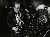 Harry Bence Playing the Saxophone at the Forum Theatre, Hatfield, Hertfordshire, 1984 Photographic Print by Denis Williams
