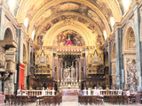 Interior of St Johns Co-Cathedral, Valletta, Malta Photographic Print by Peter Thompson