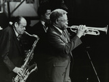 Arnett Cobb and Wallace Davenport Playing at the Capital Radio Jazz Festival, Knebworth, 1981 Photographic Print by Denis Williams
