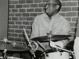 Drummer Rod Youngs Playing at the Fairway, Welwyn Garden City, Hertfordshire, 25 January 2004 Photographic Print by Denis Williams